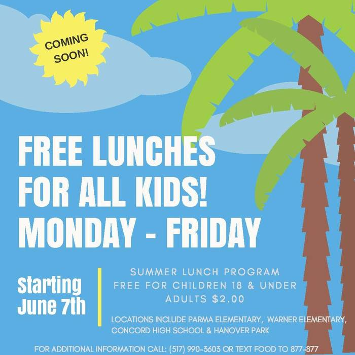Summer Meals Program starts June 7th