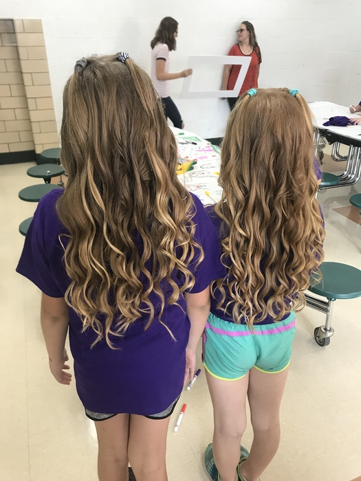 Curls for days! Bradie & Avery!