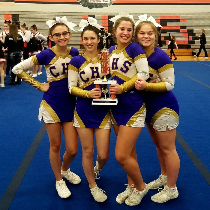Concord Varsity cheer 1st place at Leslie 1-5-19