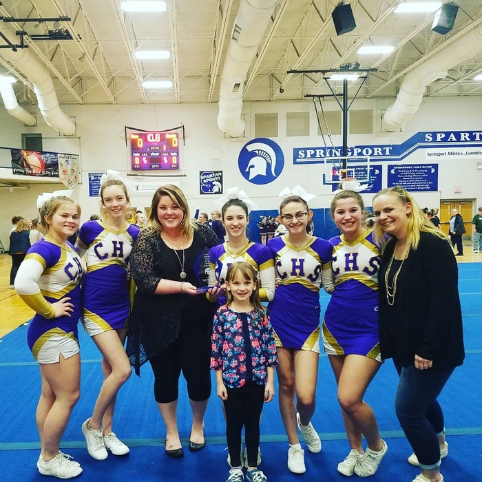 Concord Varsity Cheer team takes First Place at Springport Invitational 1-7-19