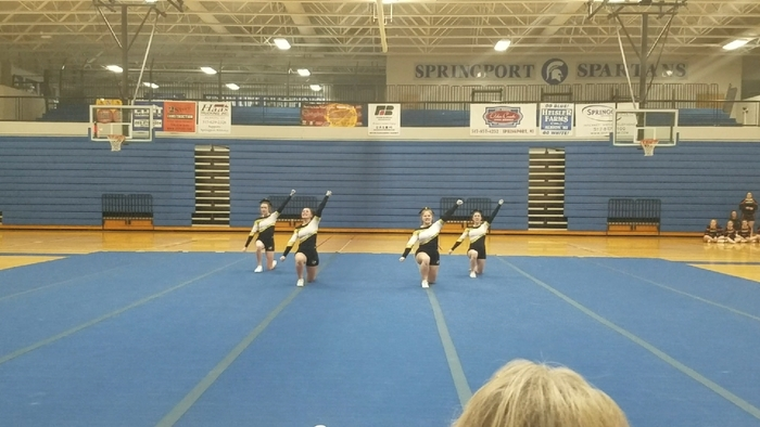 CHS Varsity cheer team during their Round 2!