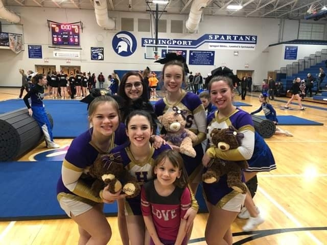 CHS Varsity cheer team after their win @Springport 1-21-19