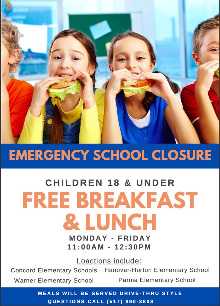 Free Lunch and Breakfast During Emergency School Closure