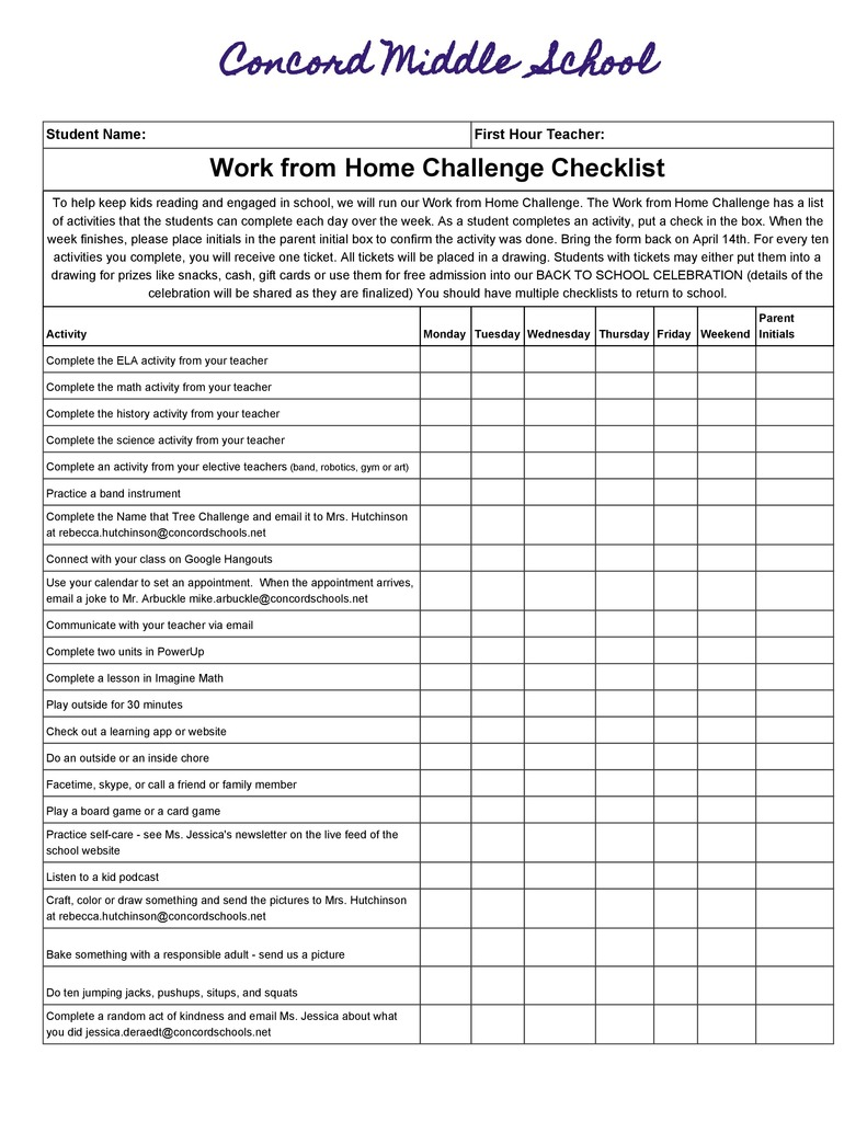 New MS Work from Home Challenge