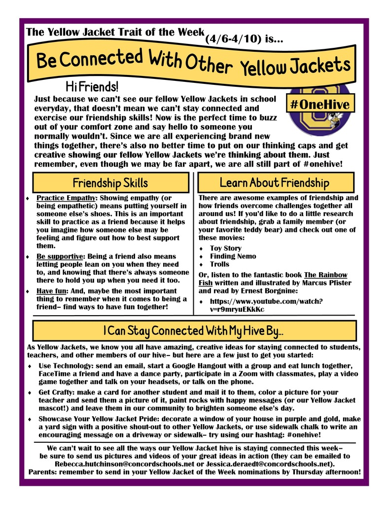Yellow Jacket Trait of the Week - Be Connected to Other Yellow Jackets